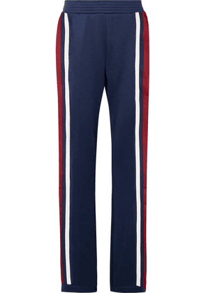 All Access - Zeppelin Striped Stretch-jersey Track Pants - Navy