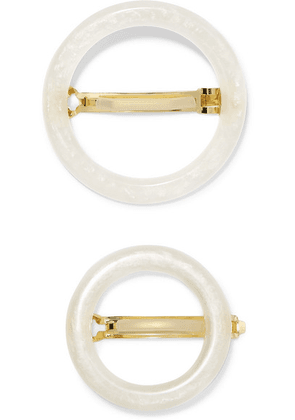 Cult Gaia - Ria Set Of Two Acrylic Hairclips - White