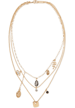 Isabel Marant - Vedette Gold-tone Crystal Necklace - one size