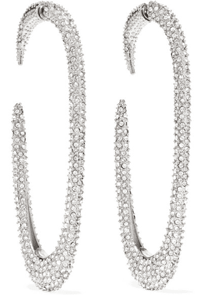 SAINT LAURENT - Silver-tone Crystal Earrings - one size