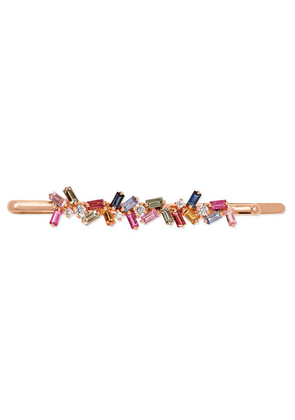 Suzanne Kalan - 18-karat Rose Gold, Sapphire And Diamond Hair Slide - one size