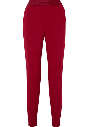 Calvin Klein Underwear - Cotton-blend Fleece Track Pants - Crimson
