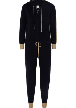 Madeleine Thompson - Hooded Cashmere Jumpsuit - Navy