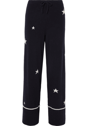 Chinti and Parker - Star Cashmere Pajama Pants - Navy