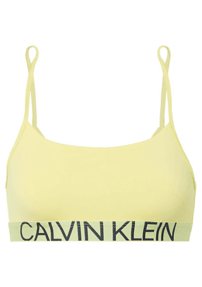 Calvin Klein Underwear - Statement 1981 Stretch-jersey Soft-cup Bra - Yellow