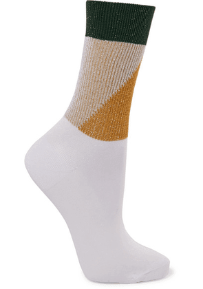 Falke - Vitamin Metallic Stretch-knit Socks - White