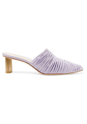 Cult Gaia - Sage Leather Mules - Lavender