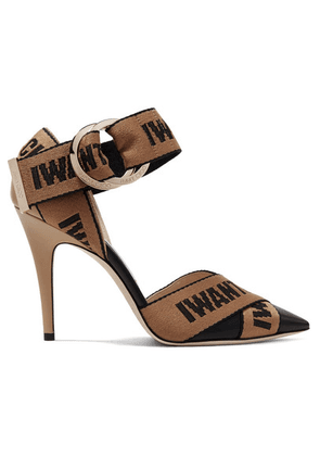 Jimmy Choo - Bea 100 Logo-woven Canvas And Leather Pumps - Black