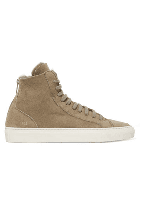 Common Projects - Tournament Shearling High-top Sneakers - Mushroom