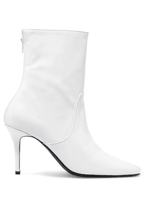 DORATEYMUR - Town And Country Leather Ankle Boots - White
