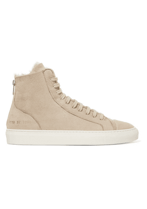 Common Projects - Tournament Shearling High-top Sneakers - Beige
