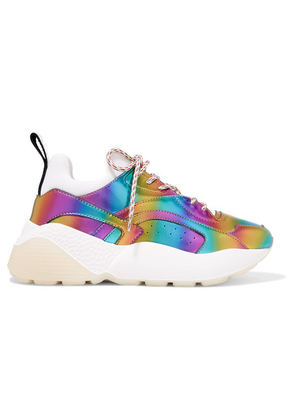 Stella McCartney - Eclypse Iridescent Faux Leather And Neoprene Sneakers - Purple