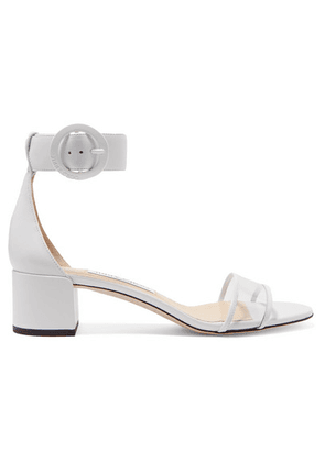 Jimmy Choo - Jaimie 40 Leather And Pvc Sandals - White