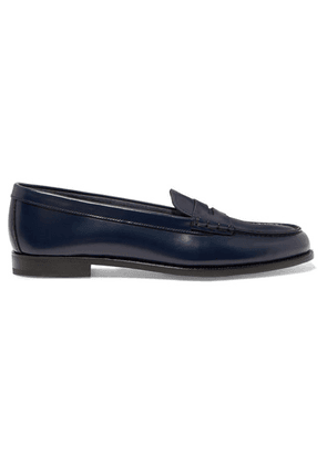 Church's - Kara Glossed-leather Loafers - Blue
