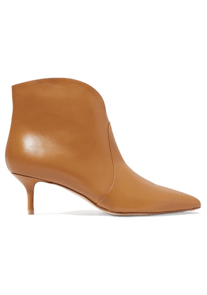 Francesco Russo - Leather Ankle Boots - Camel