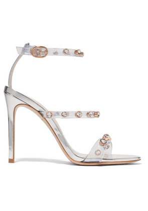 Sophia Webster - Rosalind Crystal-embellished Pvc And Metallic Leather Sandals - Silver