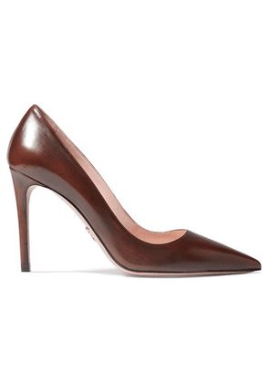 Prada - 100 Leather Pumps - Brown