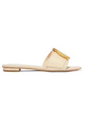 Cult Gaia - Lani Woven Raffia Slides - Off-white