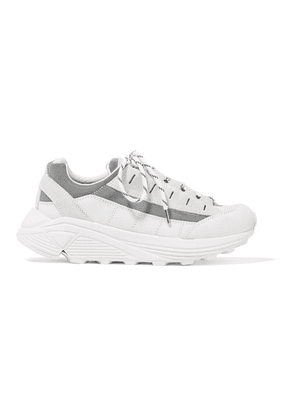 GANNI - Iris Suede And Leather Sneakers - White