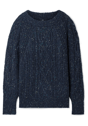 J.Crew - Scotty Marled Cable-knit Sweater - Navy