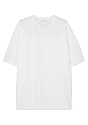 Balenciaga - Oversized Embroidered Cotton-jersey T-shirt - White