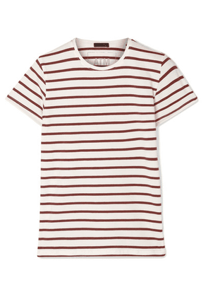 ATM Anthony Thomas Melillo - Striped Stretch-pima Cotton-jersey T-shirt - Brown