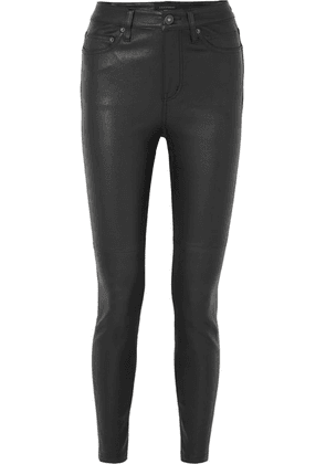 Equipment - Skinny Leather Pants - Black