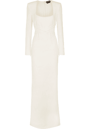 TOM FORD - Belted Cady Gown - White