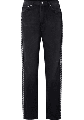 Christopher Kane - Crystal-embellished High-rise Jeans - Black