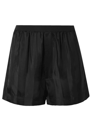 Marc Jacobs - Striped Satin-jacquard Shorts - Black