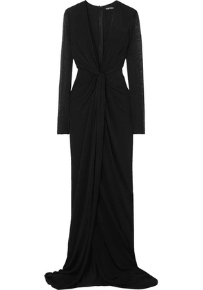 TOM FORD - Twist-front Stretch-jersey Gown - Black