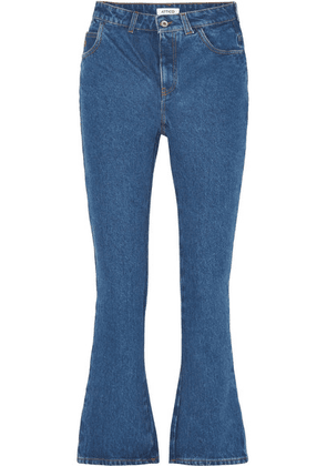 Attico - Cropped High-rise Flared Jeans - Blue