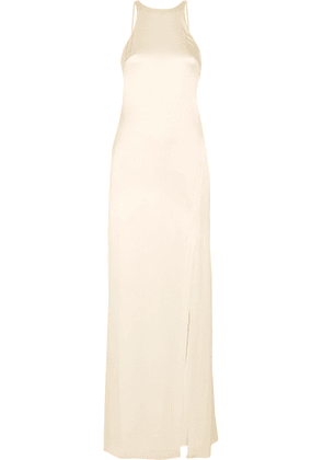 Halston Heritage - Open-back Satin Gown - Cream