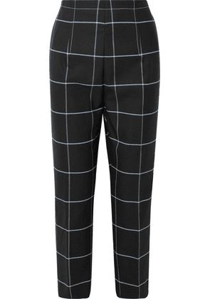 Marni - Cropped Checked Twill Straight-leg Pants - Black