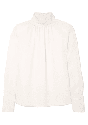 Marc Jacobs - Silk-crepe Turtleneck Blouse - White