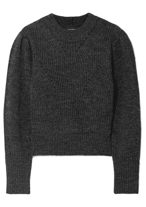 Isabel Marant - Belaya Cropped Wool Sweater - Anthracite