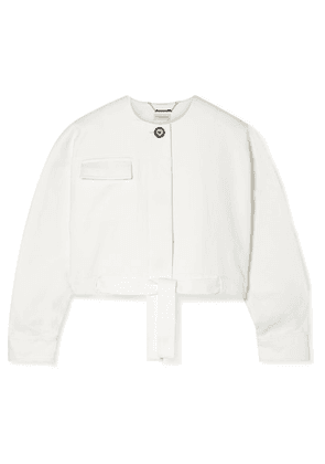 By Malene Birger - Cropped Cotton-blend Twill Jacket - White