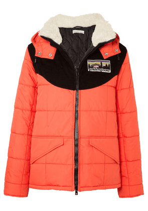 Golden Goose - Agena Faux Shearling-trimmed Quilted Shell Jacket - Red