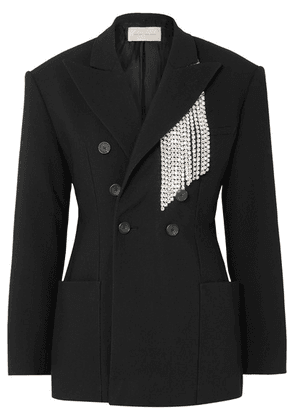 Christopher Kane - Crystal-embellished Twill Blazer - Black