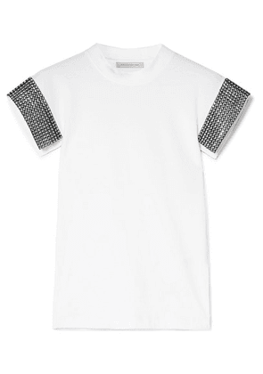 Christopher Kane - Crystal-embellished Cotton-jersey T-shirt - White