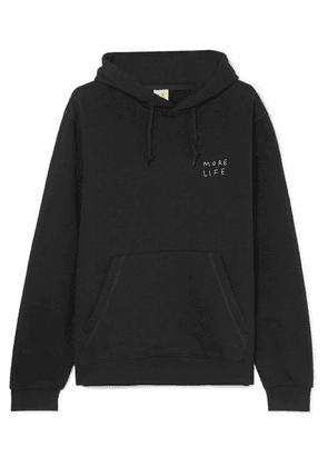 YEAH RIGHT NYC - More Life Oversized Embroidered Cotton-blend Hoodie - Black