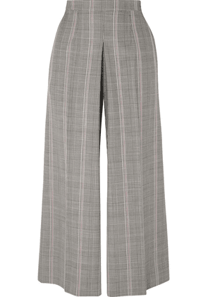 Alexander McQueen - Prince Of Wales Checked Woven Wide-leg Pants - Gray