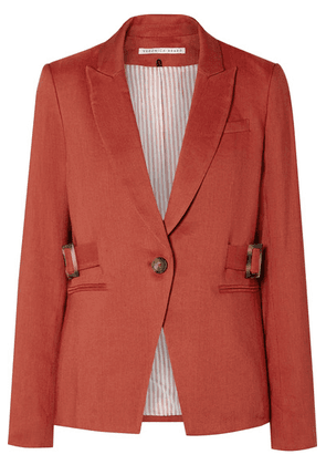 Veronica Beard - Baltazar Dickey Linen-blend Blazer - Red