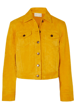 ARJÉ - The Lex Cropped Suede Jacket - Yellow