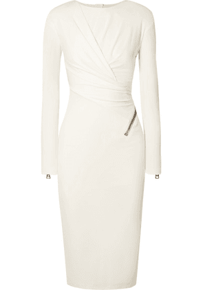 TOM FORD - Ruched Jersey Midi Dress - White
