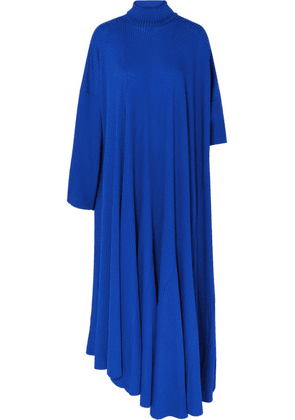 Balenciaga - Draped Ribbed-jersey Dress - Blue