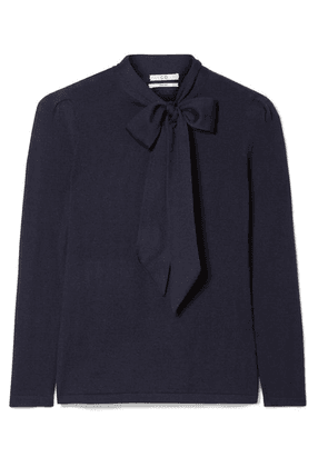 Co - Pussy-bow Cashmere Sweater - Navy
