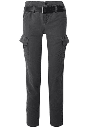 RtA - Sallinger Belted Cotton-twill Cargo Pants - Dark gray