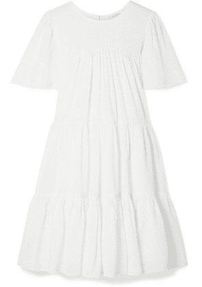 Anine Bing - Tabitha Tiered Seersucker Mini Dress - White