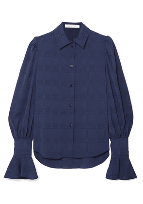 See By Chloé - Crinkled Crepe-jacquard Blouse - Blue